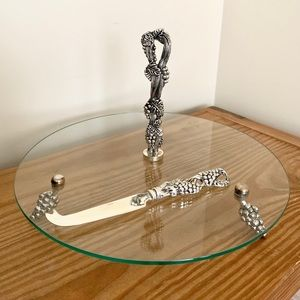 Godinger Grapevine Silver-Plated Cheese Plate